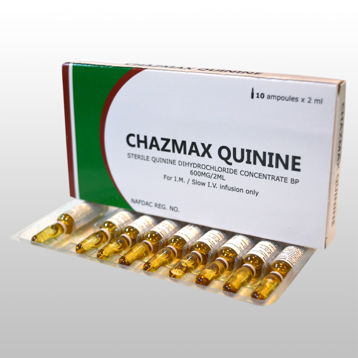 STERILE QUININE DIHYDROCHLORIDECONCENTRATE BP, 600MG/2ML