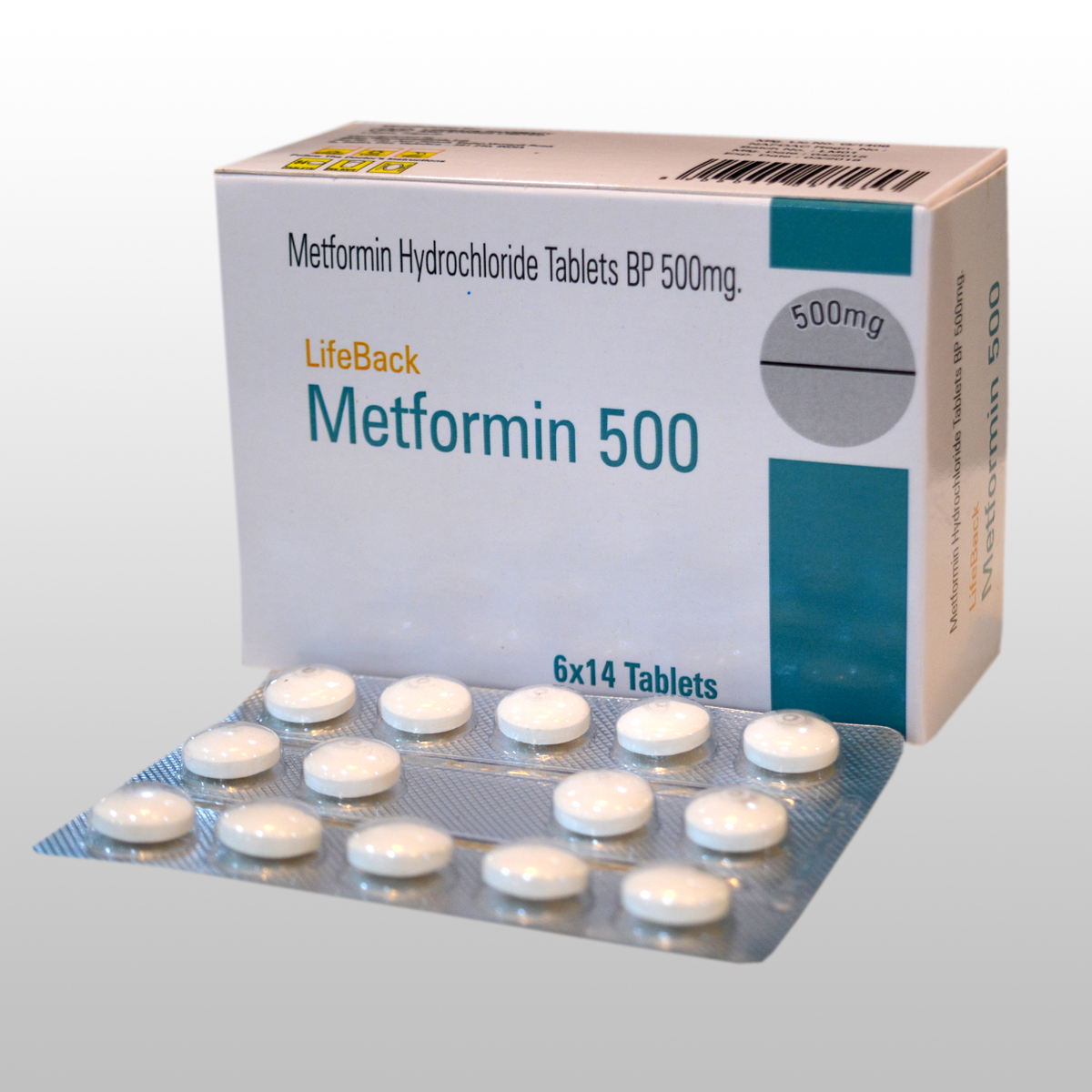 METFORMIN HYDROCHLORIDE TABLETS BP  500 mg