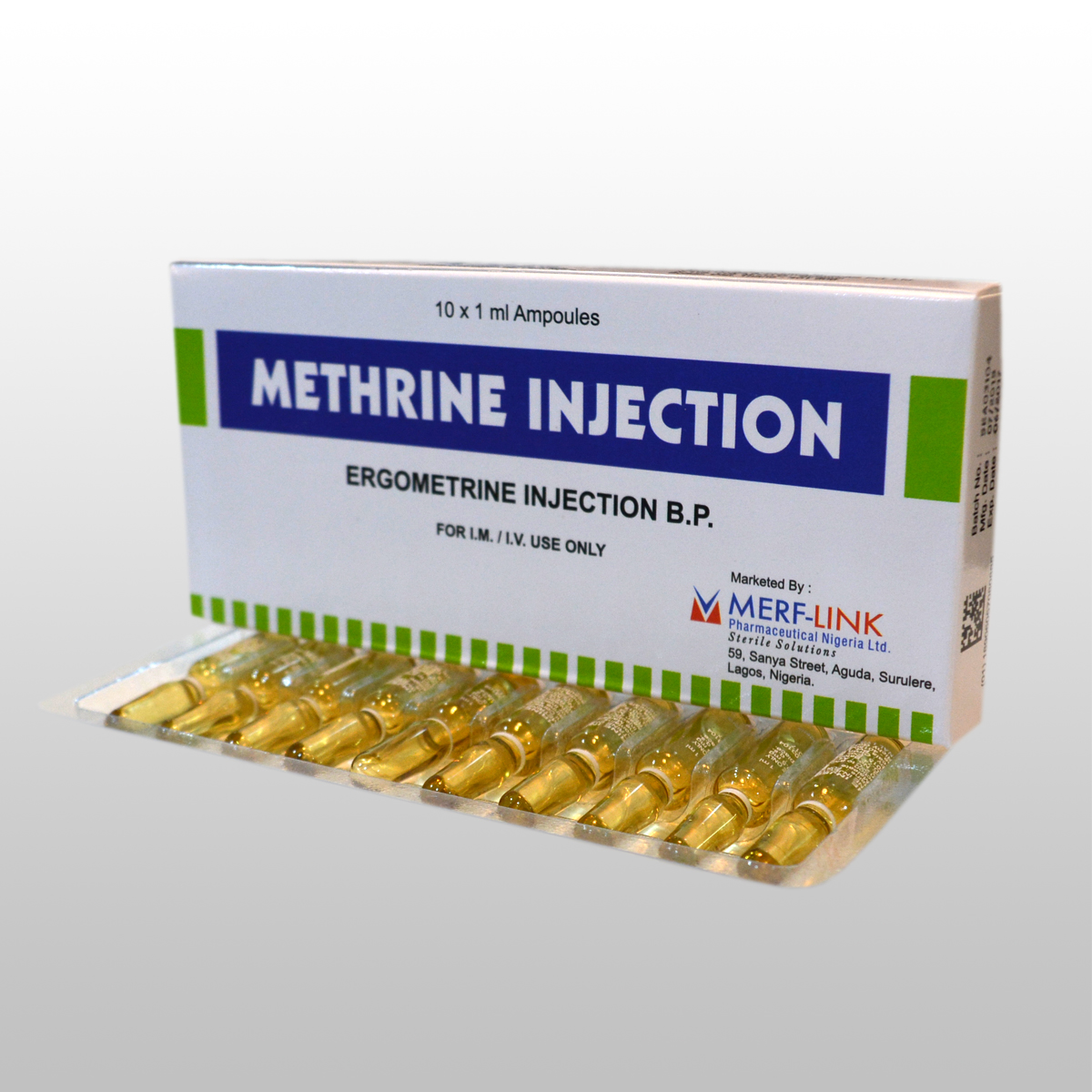 Ergometrine injection  BP