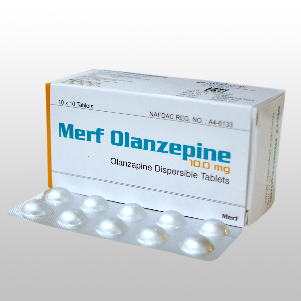 OLANZEPINE DISPERSIBLE TABLETS  10 mg